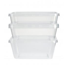 Recipient Plastique Rond Transparent 500ml (50 Utés)