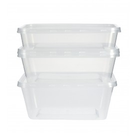 Recipient Plastique Rond Transparent 750ml (50 Utés)