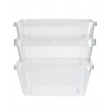 Recipient Plastique Rond Transparent 750ml (50 Utés)