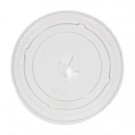 Couvercle Plat avec Croix PET Cristal Ø7,3cm (125 Unités)