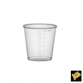Gobelet Plastique Gradué PP Transp. 35 ml (50 Unités)