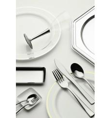 Dessous d'assiette Plastique Octogonal Argenté 30 cm (50 Utés)