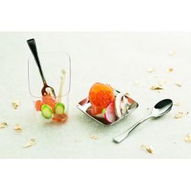 Mini Fourchette Argentée en plastique 10cm (1.000 unités)