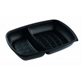 Barquette Plastique PP 2C Noir 1300ml 28x20x4cm (50 Utés)