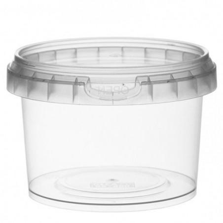 Pot en Plastique rond inviolable 280ml Ø9,5 (475 Unités)