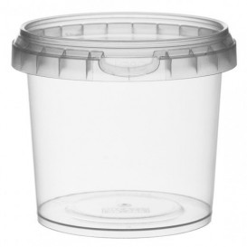 Pot en Plastique rond inviolable 365ml Ø9,5 (456 Unités)