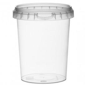 Pot en Plastique rond inviolable 520ml Ø9,5 (380 Unités)