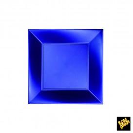 Assiette Plastique Réutilisable Plate Bleu Pearl PP 180mm (25 Utés)