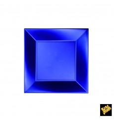 Assiette Plastique Plate Bleu Nice Pearl PP 180mm (25 Utés)