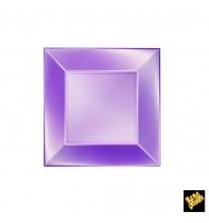 Assiette Plastique Plate Violet Nice Pearl PP 180mm (300 Utés)