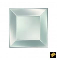 Assiette Plastique Réutilisable Plate Argent Pearl PP 230mm (300 Utés)