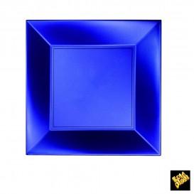 Assiette Plastique Réutilisable Plate Bleu Pearl PP 230mm (300 Utés)