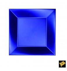Assiette Plastique Plate Bleu Nice Pearl PP 230mm (25 Utés)