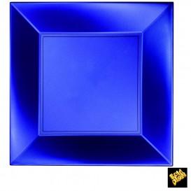 Assiette Plastique Réutilisable Plate Bleu Pearl PP 290mm (144 Utés)