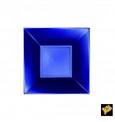 Assiette Plastique Creuse Bleu Nice Pearl PP 180mm (25 Utés)