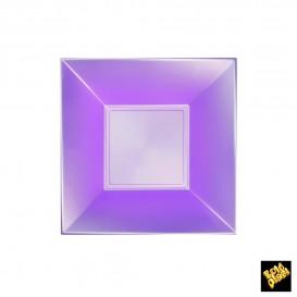 Assiette Plastique Réutilisable Creuse Violet Pearl PP 180mm (300 Utés)