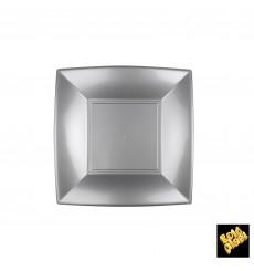Assiette Plastique Plate Grise Nice PP 180mm (300 Utés)
