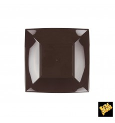 Assiette Plastique Plate Brun Nice PP 180mm (300 Utés)