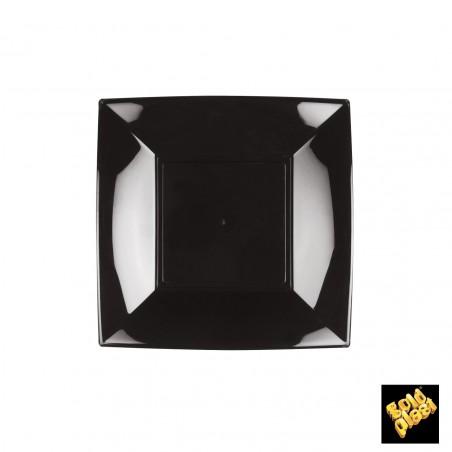 Assiette Plastique Plate Carrée Argent 180mm (25 Utés)