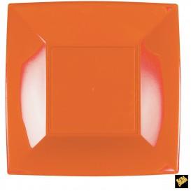 Assiette Plastique Réutilisable Plate Orange PP 290mm (144 Utés)