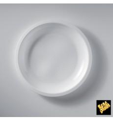 Assiette Plastique Réutilisable Plate Blanc PP Ø220mm (50 Utés)