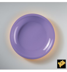 Assiette Plastique Réutilisable Plate Lilas PP Ø220mm (50 Utés)