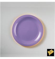 Assiette Plastique Réutilisable Plate Lilas PP Ø185mm (50 Utés)