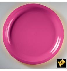 Assiette Plastique Fuchsia Round PP Ø290mm (25 Utés)