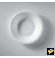 Assiette Plastique Réutilisable Creuse Blanc PP Ø195mm (600 Utés)