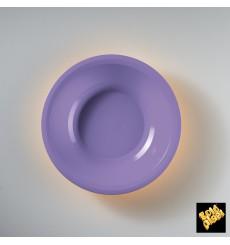 Assiette Plastique Réutilisable Creuse Lilas PP Ø195mm (600 Utés)