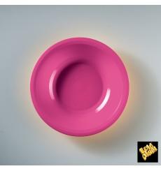 Assiette Plastique Creuse Fuchsia Round PP Ø195mm (50 Utés)