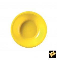 Assiette Plastique Creuse Jaune Round PP Ø195mm (50 Utés)