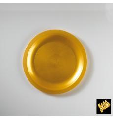 Assiette Plastique Plate Or Round PP Ø185mm (25 Utés)