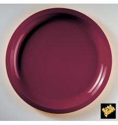 Assiette Plastique Bordeaux Round PP Ø290mm (25 Utés)
