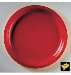 Assiette Plastique Rouge Round PP Ø290mm (300 Utés)