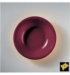 Assiette Creuse Bordeaux Round PP Ø195mm (50 Utés)