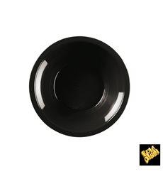 Assiette Plastique Réutilisable Creuse Noir PP Ø195mm (600 Utés)