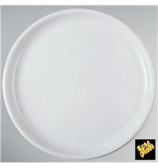Assiette Plastique Réutilisable Pizza Blanc PP Ø350mm (12 Utés)