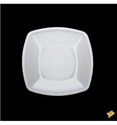 Assiette Plastique Réutilisable Plate Blanc  PP 180mm (25 Utés)