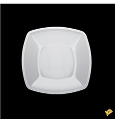 Assiette Plastique Réutilisable Plate Blanc  PP 180mm (300 Utés)