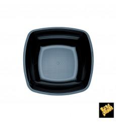 Assiette Plastique Réutilisable Creuse Noir  PS 180mm (300 Utés)