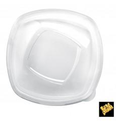 """Couvercle Plastique PET Cristal """"Square"""" Ø21cm (60 Utés)"""