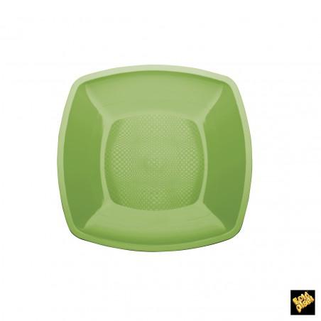 Assiette Plastique Plate Vert Lime 230mm (25 Utés)