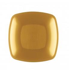 Assiette Plastique Creuse Or Square PP 180mm (300 Utés)