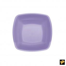 Assiette Plastique Réutilisable Creuse Lilas PP 180mm (25 Utés)