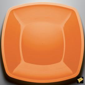 Assiette Plastique Réutilisable Plate Orange PS 300mm (12 Utés)