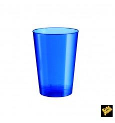Verre Plastique Moon Bleu Pearl PS 230ml (1000 Unités)