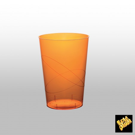 Verre Plastique Orange Transp PS 200ml (50 Unités)
