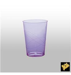 Verre Plastique Moon Violet Transp. PS 230ml (50 Unités)