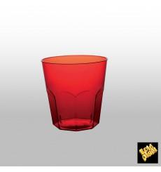 Verre Plastique Rouge Transp. PS Ø73mm 220ml (50 Utés)